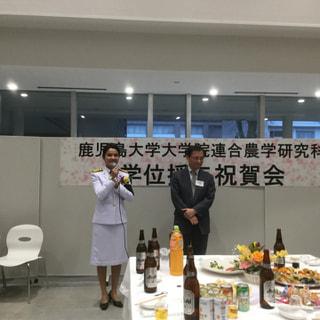タイ料理を教えてくれたjannokさんが、鹿児島大学農学部大学院を卒業されました。