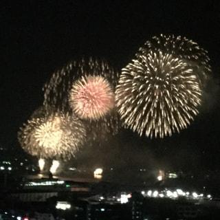 一昨日、錦江湾花火大会が開催されました。