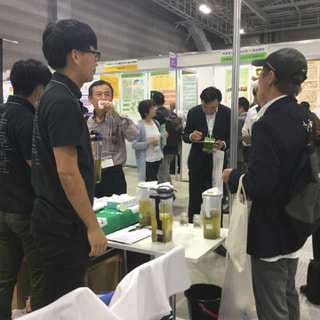 ビッグサイトで開催されているアグリビジネス創出フェアに鹿児島大学開発協力商品としてハーブティーが初参加!